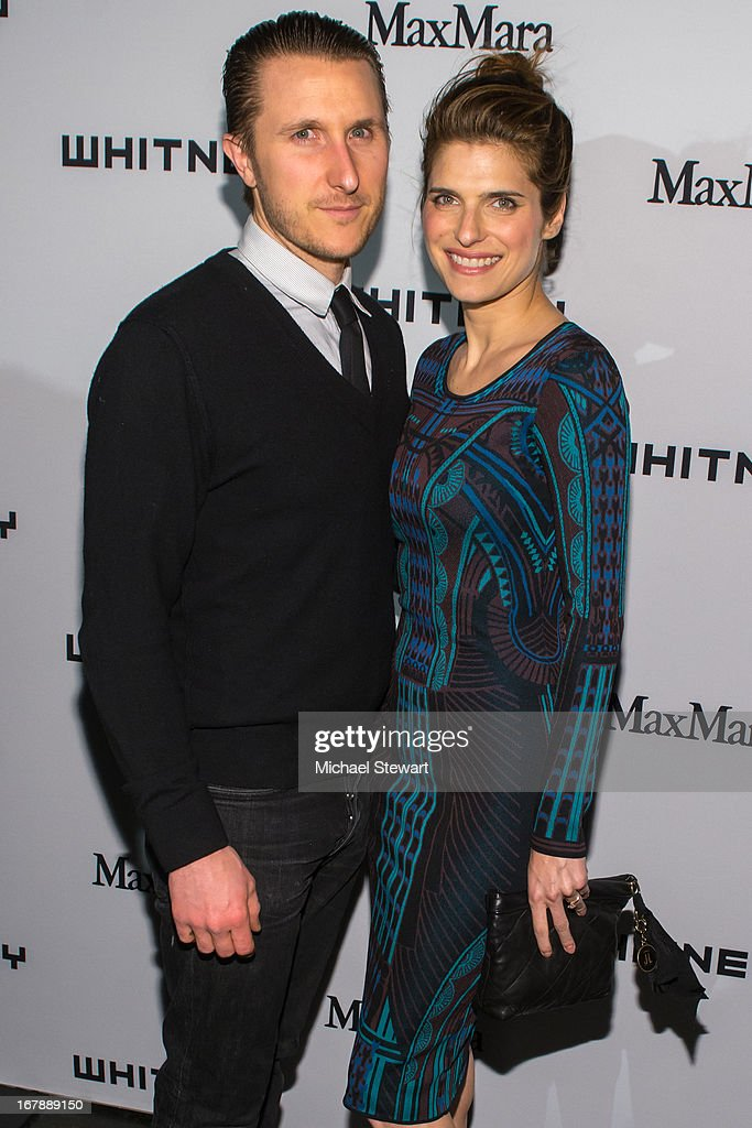 Scott Campbell (L) and actress <a gi-track='captionPersonalityLinkClicked' href=/galleries/search?phrase=Lake+Bell&family=editorial&specificpeople=209336 ng-click='$event.stopPropagation()'>Lake Bell</a> attend the 2013 Whitney Art Party at Skylight at Moynihan Station on May 1, 2013 in New York City.