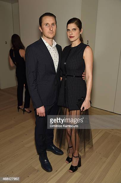 Scott Campbell and Lake Bell attend Audi's Celebration of partnership with the Whitney Museum on April 2 2015 in New York City