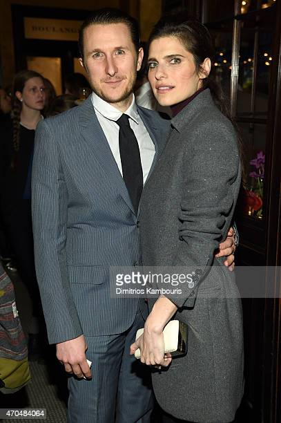 Scott Campbell and Lake Bell attend the 2015 Tribeca Film Festival CHANEL Artists Dinner at Balthazer on April 20 2015 in New York City