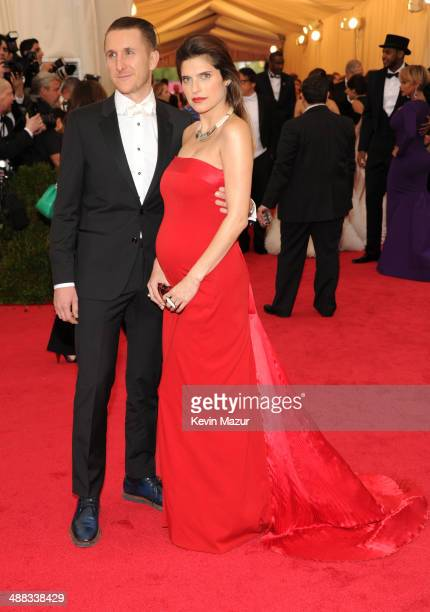 Scott Campbell and Lake Bell attend the 'Charles James Beyond Fashion' Costume Institute Gala at the Metropolitan Museum of Art on May 5 2014 in New...