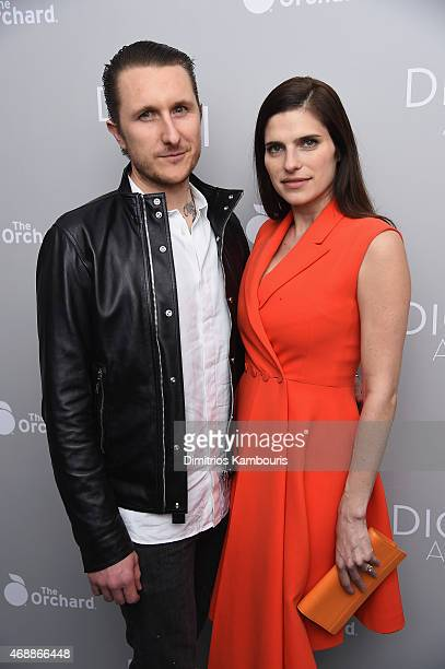 Scott Campbell and Lake Bell attend the Dior And I NY Premiere on April 7 2015 in New York City