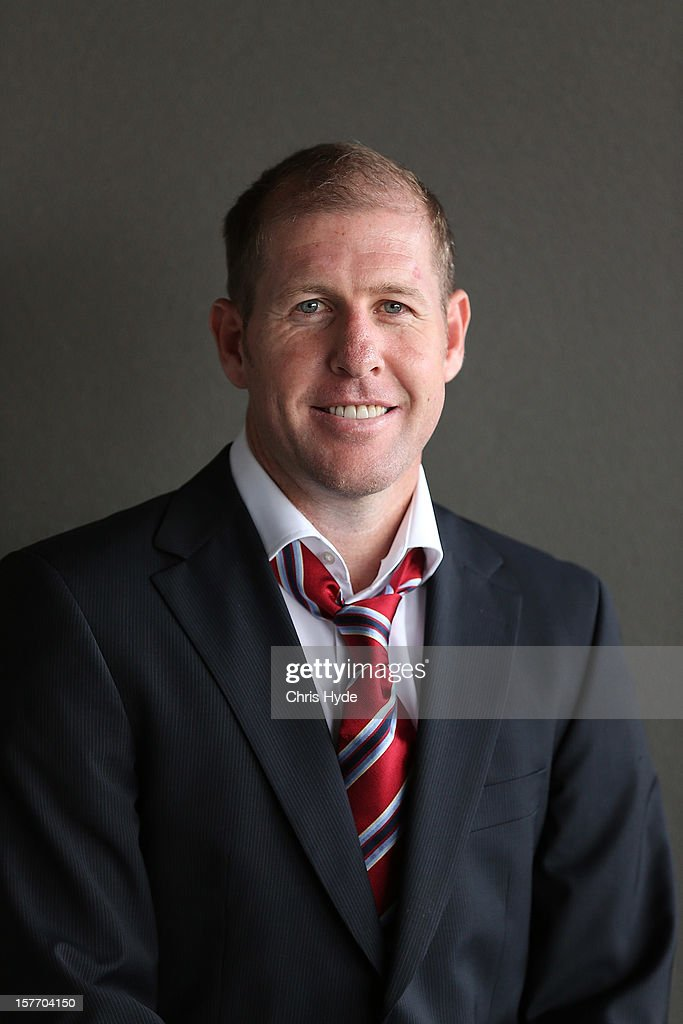 Scott Chipperfield poses for a photograph before being inducted into the 2012 Football Federation Australia Hall of Fame during a ceremony at Gambaro Restaurant and Function Centre on December 6, 2012 in Brisbane, Australia.