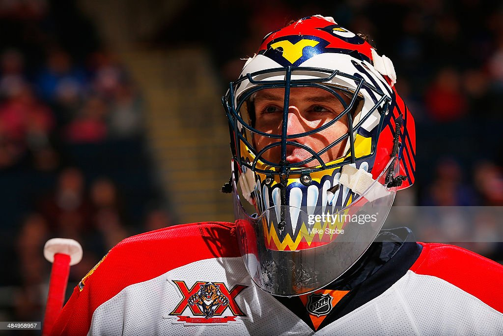 Scott Clemmensen of the Florida Panthers skates against the New York Islanders at Nassau Veterans Memorial Coliseum on April 1 2014 in Uniondale New...
