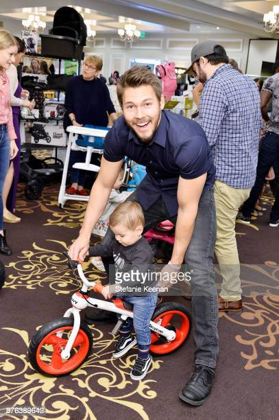 Scott Clifton and son attend Diono Presents Inaugural A Day of Thanks and Giving Event at The Beverly Hilton Hotel on November 19 2017 in Beverly...