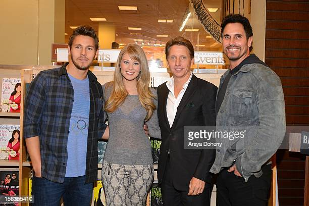 Scott Clifton Kim Matula Bradley Bell and Don Diamont arrive at the Bradley Bell And Cast Members Of 'The Bold And The Beautiful' Book Signing at...