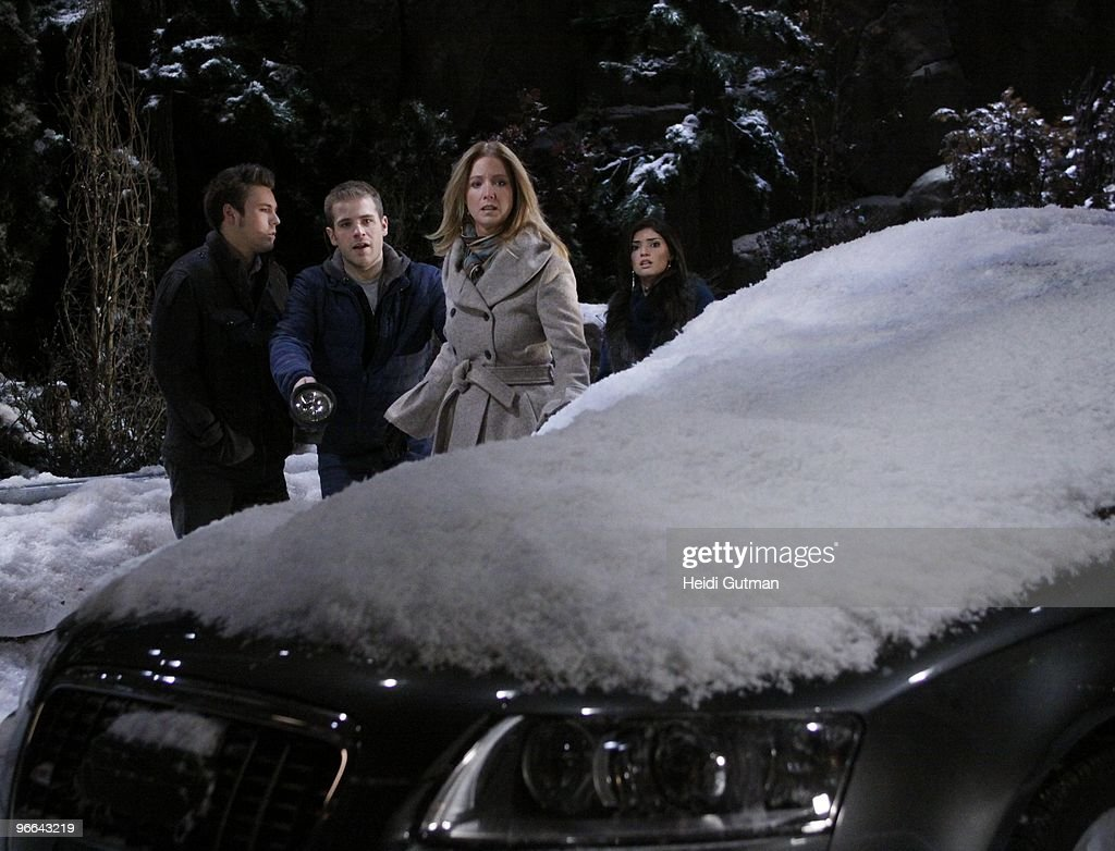 LIVE - Scott Clifton (Schuyler), Scott Evans (Olivier), Susan Haskell (Marty) and Amanda Setton (Kim) in a scene that airs the week of February 8, 2010 on ABC Daytime's 'One Life to Live.' 'One Life to Live' airs Monday-Friday (2:00 p.m. - 3:00 p.m., ET) on the ABC Television Network. OLTL10 (Photo by Heidi Gutman/ABC via Getty Images) SCOTT