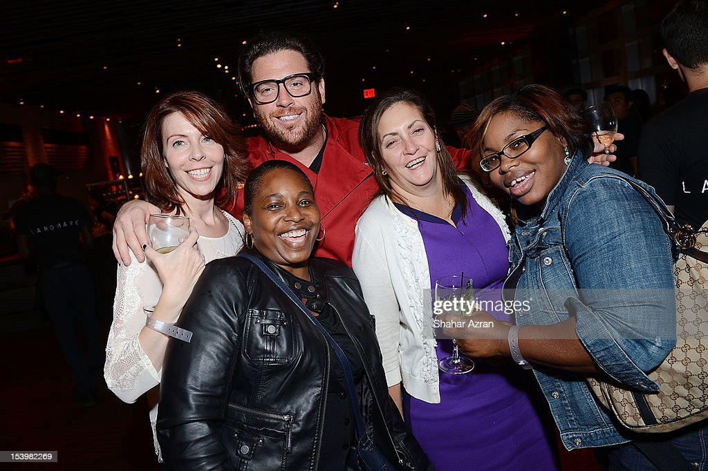 Scott Conant with Time Warner Cable guests attend the 'Chopped' Event>> at Landmarc on October 11, 2012 in New York City.