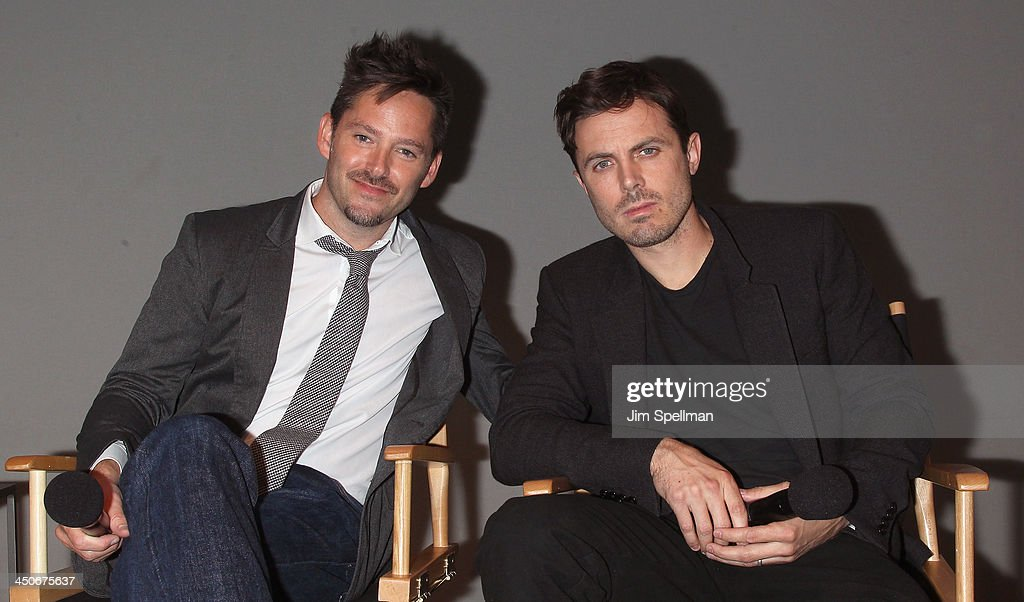 Scott Cooper and Casey Affleck attend Meet the Filmmakers at the Apple Store Soho on November 19, 2013 in New York City.