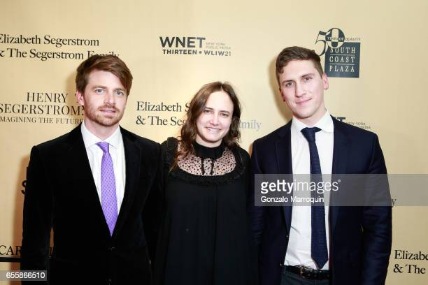 Scott Coulter Katherine Brandes and Gareth Morgan attended the New York Premiere and Celebration of Documentary Film 'Henry T Segerstrom Imagining...