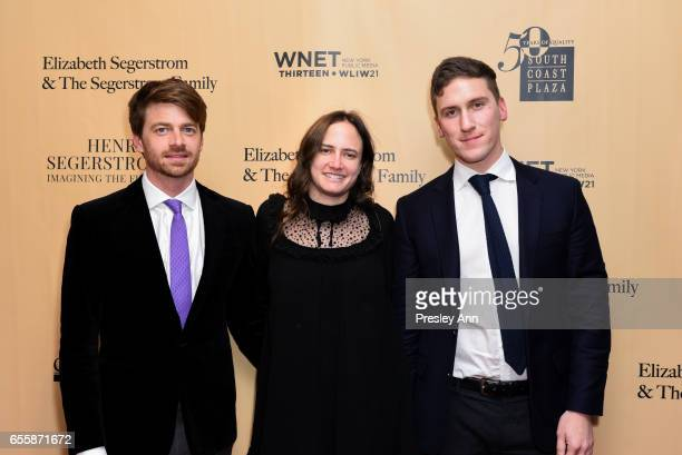 Scott Coulter Kathrine Brandes and Garrett Morgan attend the New York Premiere and Celebration of Documentary Film 'Henry T Segerstrom Imagining The...