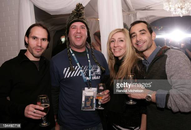 Scott Cross Eric Kaye Ileana Nicholas and Josh Green attend the Cinevegas Party at the Stella Artois Cutting Room during the 2008 Sundance Film...