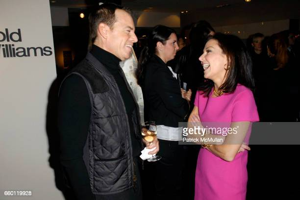 Scott Currie and Margaret Russell attend ELLE DECOR and BLOOMINGDALE'S Celebrate Reopening of Furniture Department With Auction Benefitting CFDA at...