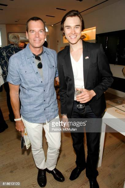 Scott Currie and Sam Underwood attend Elie Tahari hosts opening party for EQUUS with Alec Baldwin and Cast at Elie Tahari on June 18 2010 in East...