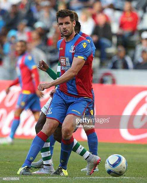 Scott Dann of Crystal Palace during the 2015 Cape Town Cup Final match between Crystal Palace FC and Sporting Lisbon at Cape Town Stadium on July 26...