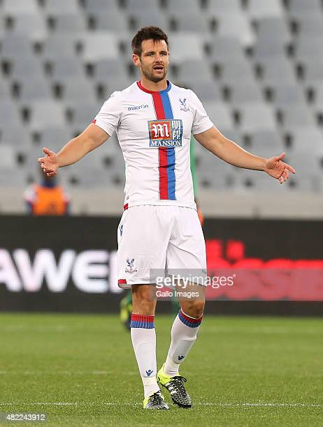 Scott Dann of Crystal Palace during the 2015 Cape Town Cup match between SuperSport United and Crystal Palace FC at Cape Town Stadium on July 24 2015...