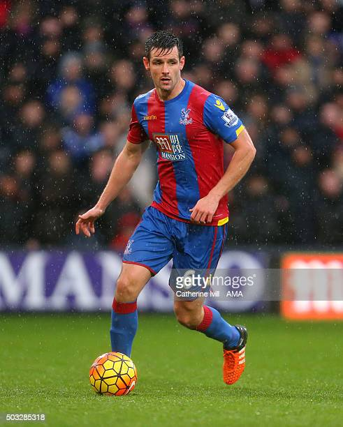Scott Dann of Crystal Palace during the Barclays Premier League match between Crystal Palace and Chelsea at Selhurst Park on January 3 2016 in London...