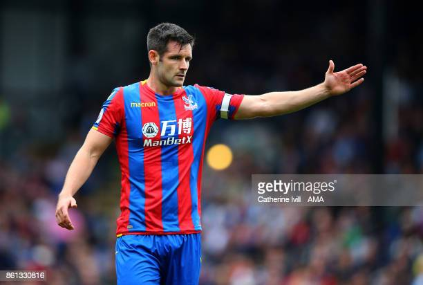 Scott Dann of Crystal Palace during the Premier League match between Crystal Palace and Chelsea at Selhurst Park on October 14 2017 in London England