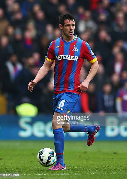 Scott Dann of Crystal Palace in action during the Barclays Premier League match between Crystal Palace and Queens Park Rangers at Selhurst Park on...