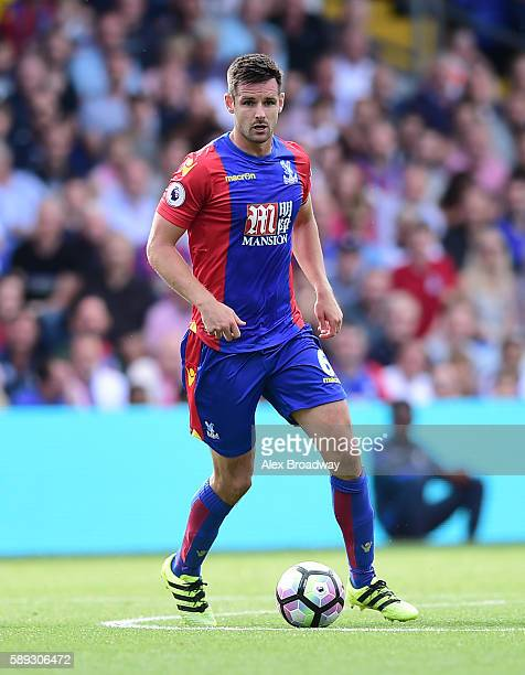 Scott Dann of Crystal Palace in action during the Premier League match between Crystal Palace and West Bromwich Albion at Selhurst Park on August 13...