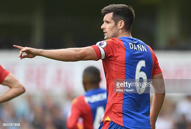 Scott Dann of Crystal Palace looks on during the Premier League match between Tottenham Hotspur and Crystal Palace at White Hart Lane on August 20...