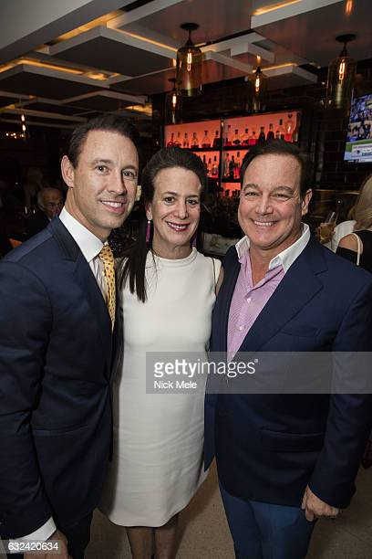 Scott Diament Betsy Turner and Wally Turner attend AVENUE Celebrates Kara Ross and the Palm Beach A List at Meat Market Palm Beach on January 19 2017...