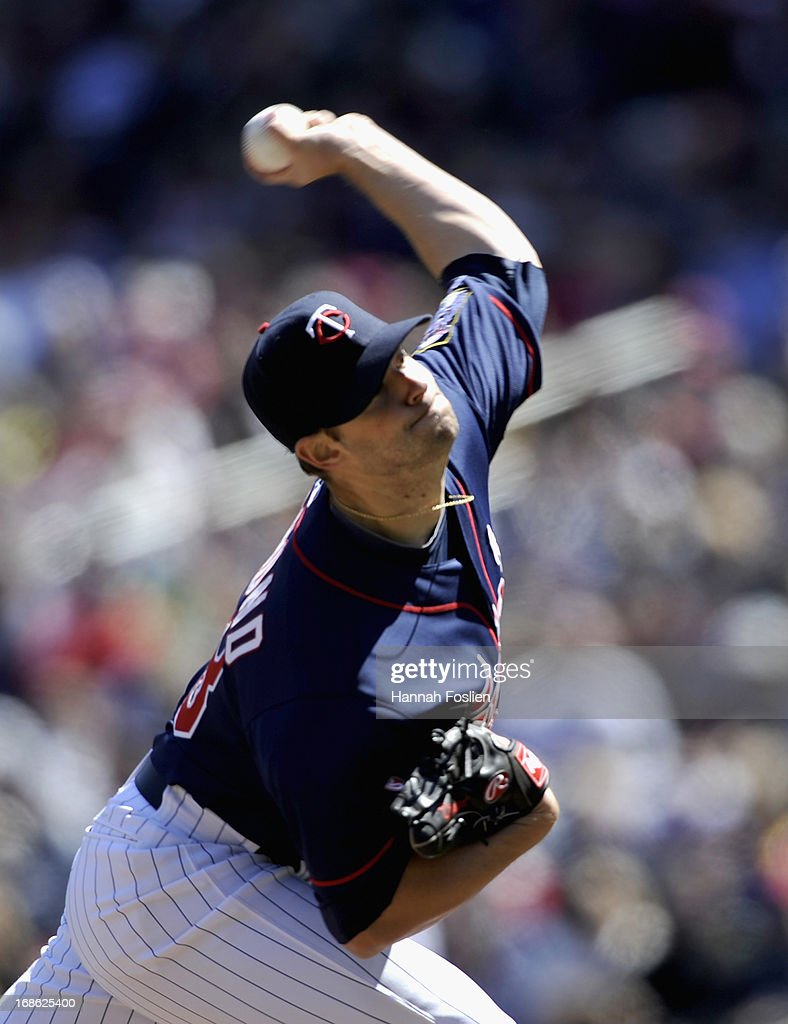 <a gi-track='captionPersonalityLinkClicked' href=/galleries/search?phrase=Scott+Diamond&family=editorial&specificpeople=5751757 ng-click='$event.stopPropagation()'>Scott Diamond</a> #58 of the Minnesota Twins delivers a pitch against the Baltimore Orioles during the fourth inning of the game on May 12, 2013 at Target Field in Minneapolis, Minnesota. The Orioles defeated the Twins 6-0.