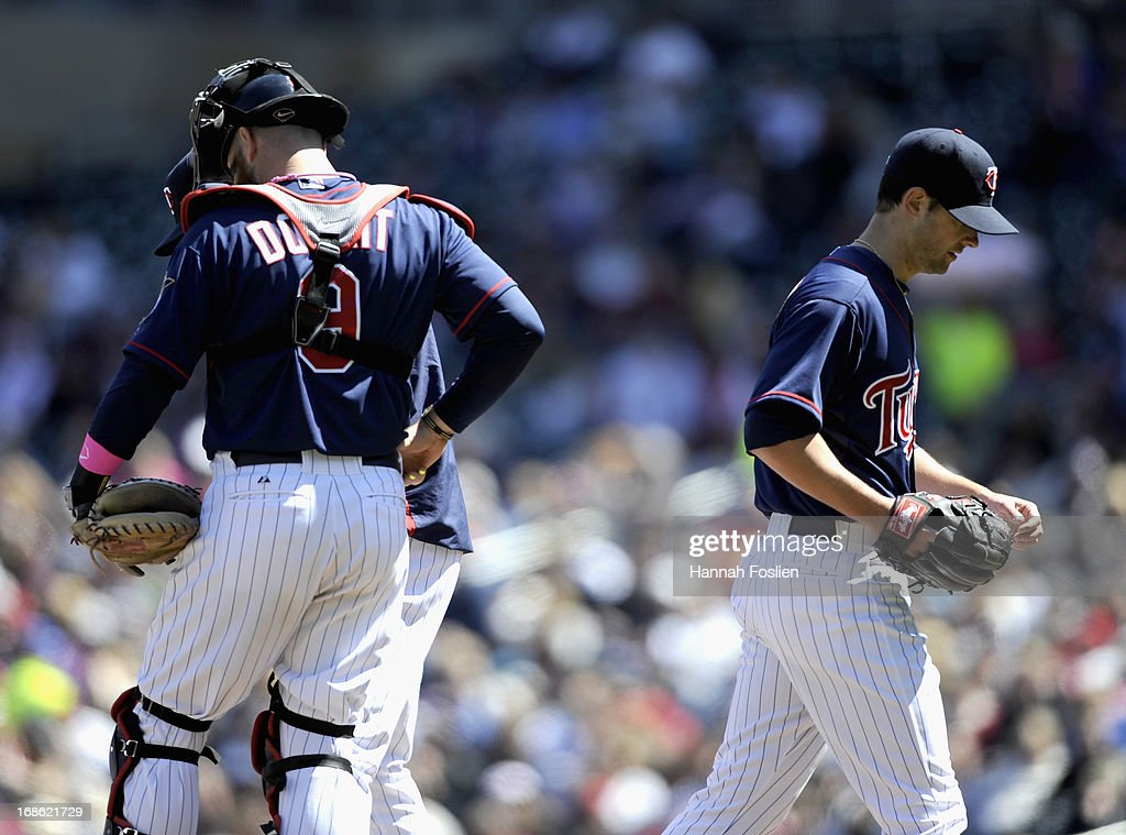 <a gi-track='captionPersonalityLinkClicked' href=/galleries/search?phrase=Scott+Diamond&family=editorial&specificpeople=5751757 ng-click='$event.stopPropagation()'>Scott Diamond</a> #58 of the Minnesota Twins leaves the game against the Baltimore Orioles during the sixth inning on May 12, 2013 at Target Field in Minneapolis, Minnesota.