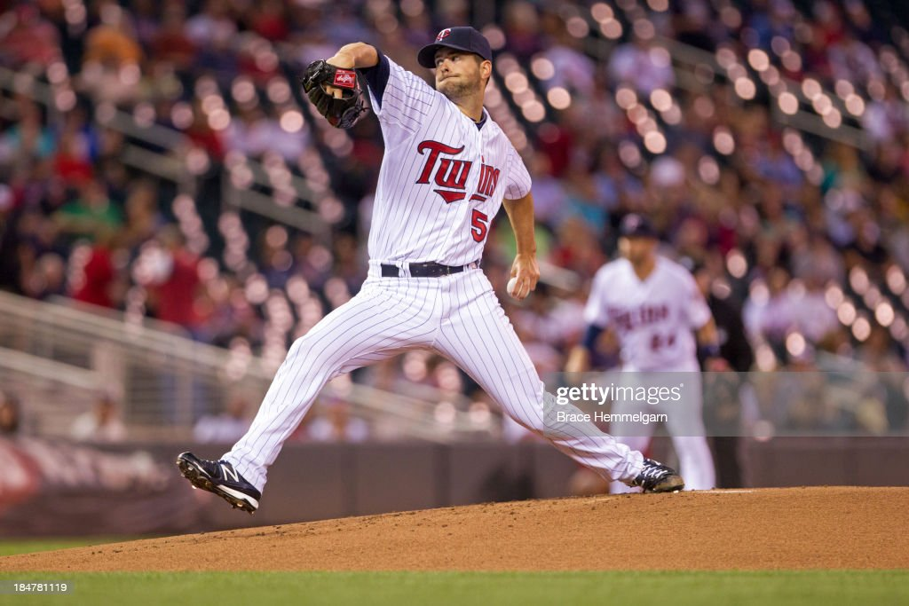 <a gi-track='captionPersonalityLinkClicked' href=/galleries/search?phrase=Scott+Diamond&family=editorial&specificpeople=5751757 ng-click='$event.stopPropagation()'>Scott Diamond</a> #58 of the Minnesota Twins pitches against the Detroit Tigers on September 24, 2013 at Target Field in Minneapolis, Minnesota. The Tigers defeated the Twins 4-2.