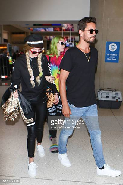 Scott Disick and Bella Thorne are seen at LAX on May 22 2017 in Los Angeles California