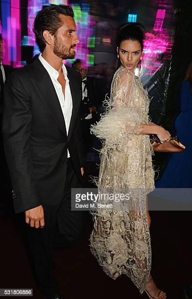 Scott Disick and Kendall Jenner attend the Chopard Wild Party during the 69th Annual Cannes Film Festival at Port Canto on May 16 2016 in Cannes