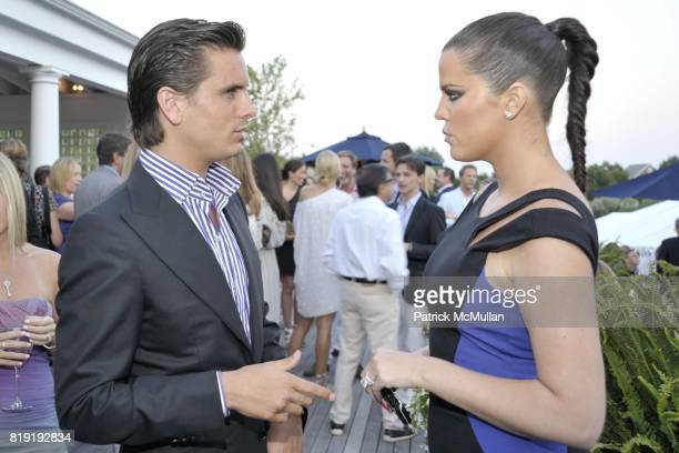 Scott Disick and Khloe Kardashian attend QVC Style Initiative Dinner hosted by CEO Mike George at the home of Dennis Basso and partner Michael...