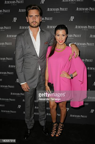 Scott Disick and Kourtney Kardashian attend a cocktail reception to celebrate the launch of new watch for Audemars Piguet on September 27 2013 in...