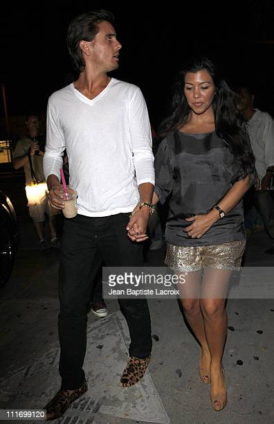 Scott Disick and Kourtney Kardashian visit Millions of Milkshakes on August 30 2009 in Los Angeles California