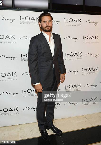 Scott Disick arrives at 1 OAK inside Mirage Hotel Casino on July 24 2015 in Las Vegas Nevada
