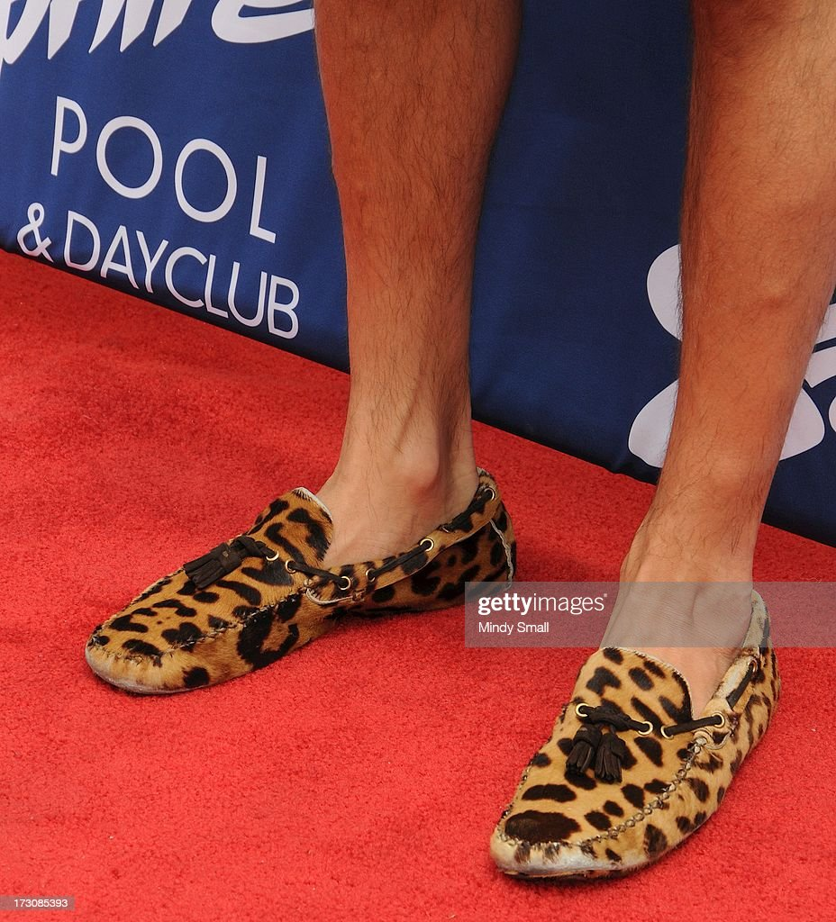 <a gi-track='captionPersonalityLinkClicked' href=/galleries/search?phrase=Scott+Disick&family=editorial&specificpeople=4420046 ng-click='$event.stopPropagation()'>Scott Disick</a> (shoe detail) arrives at the Sapphire Pool & Day Club on July 6, 2013 in Las Vegas, Nevada.