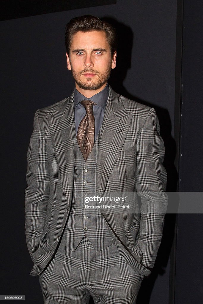 Scott Disick attends the Givenchy Men Autumn / Winter 2013 show as part of Paris Fashion Week on January 18, 2013 in Paris, France.