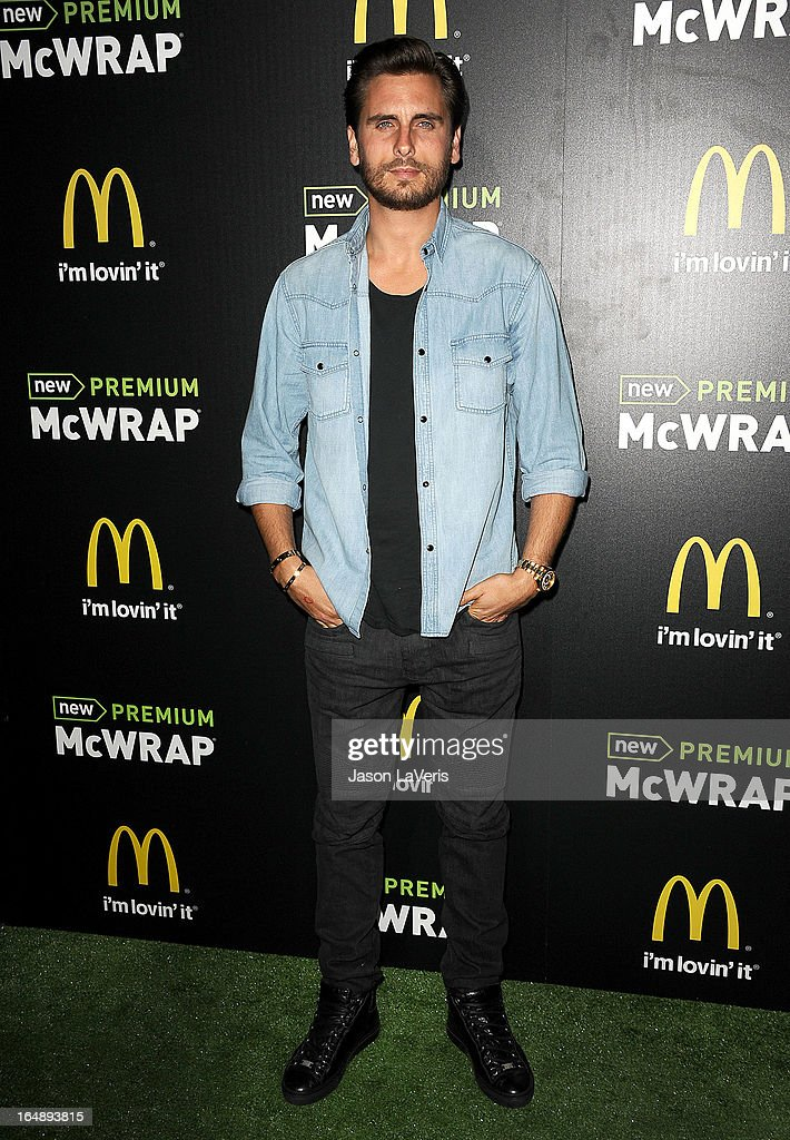 Scott Disick attends the McDonald's Premium McWrap launch party at Paramount Studios on March 28, 2013 in Hollywood, California.