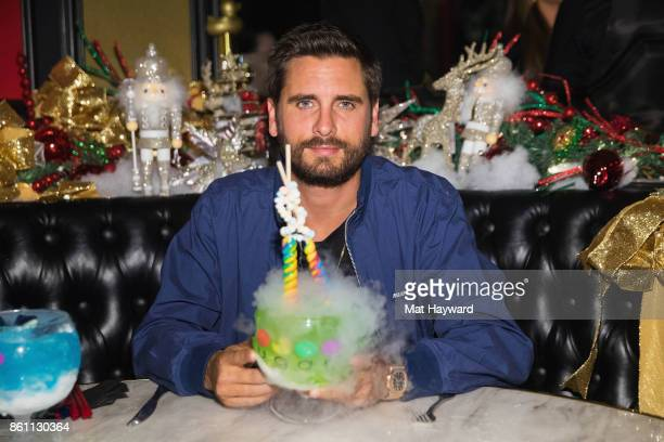 Scott Disick enjoys a virgin Lollipop Passion Goblet at Sugar Factory American Brassiere on October 13 2017 in Bellevue Washington