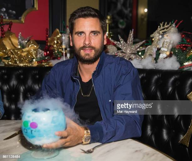 Scott Disick enjoys a virgin Ocean Blue Goblet at Sugar Factory American Brassiere on October 13 2017 in Bellevue Washington