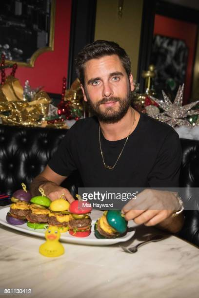 Scott Disick enjoys Rainbow Sliders at Sugar Factory American Brassiere on October 13 2017 in Bellevue Washington