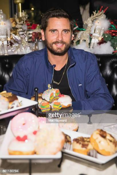 Scott Disick enjoys signature donuts at Sugar Factory American Brassiere on October 13 2017 in Bellevue Washington