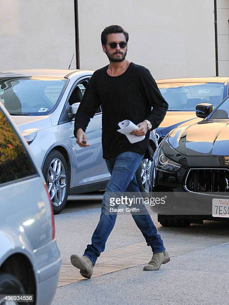 Scott Disick is seen on November 12 2015 in Los Angeles California