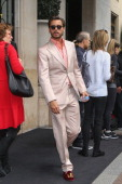 Scott Disick leaves the 'Four Seasons George V' hotel on May 24 2014 in Paris France