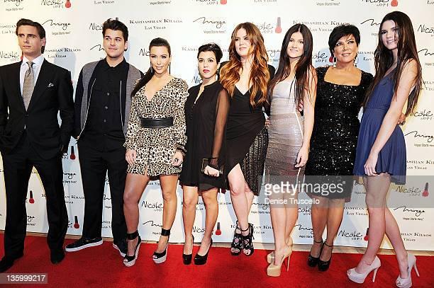 Scott Disick Rob Kardashian Kim Kardashian Kourtney Kardashian Khloe Kardashian Kylie Jenner Kris Jenner and Kendall Jenner arrive at the grand...