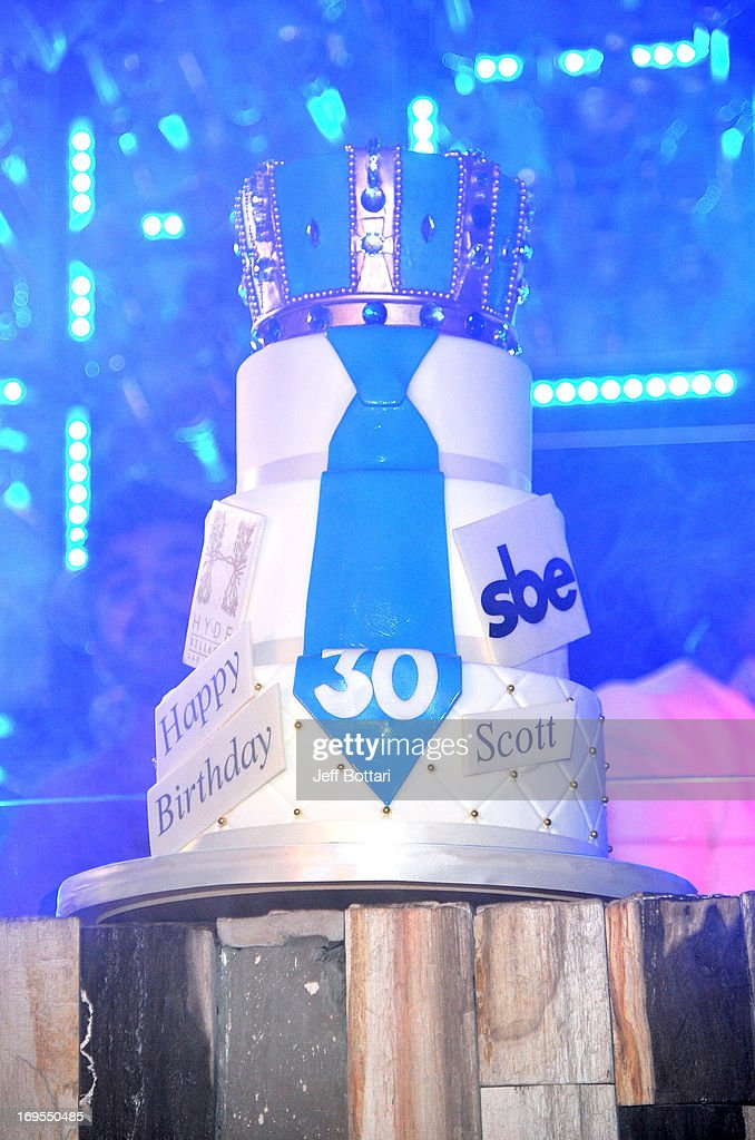 Scott Disick's birthday cake is displayed as he celebrates his 30th birthday at Hyde Bellagio at the Bellagio over Memorial Day weekend on May 26, 2013 in Las Vegas, Nevada.