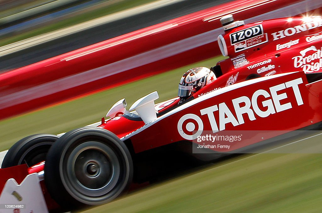 <a gi-track='captionPersonalityLinkClicked' href=/galleries/search?phrase=Scott+Dixon&family=editorial&specificpeople=183395 ng-click='$event.stopPropagation()'>Scott Dixon</a> driver of the #9 Target Chip Ganassi Racing Dallara Honda races during the Honda Indy 200 at the Mid-Ohio Sportscar Course on August 7, 2011 in Lexington, Ohio.