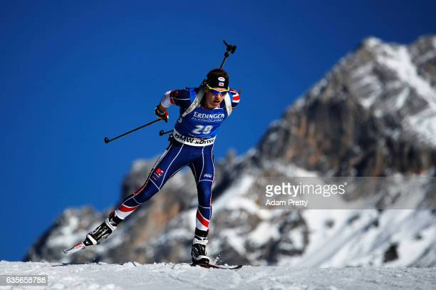 Scott Dixon of Great Britain in action during the Men's 20km Individual competition of the IBU World Championships Biathlon 2017 at the Biathlon...