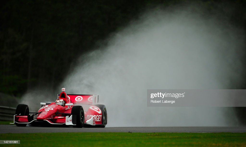 <a gi-track='captionPersonalityLinkClicked' href=/galleries/search?phrase=Scott+Dixon&family=editorial&specificpeople=183395 ng-click='$event.stopPropagation()'>Scott Dixon</a> of New Zealand driver of the #9 Target Chip Ganassi Racing Dallara Honda during practice for the IndyCar Series Honda Indy Grand Prix of Alabama presented by Legacy at Barber Motorsports Park on March 30, 2012 in Birmingham, Alabama.