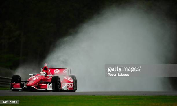 Scott Dixon of New Zealand driver of the Target Chip Ganassi Racing Dallara Honda during practice for the IndyCar Series Honda Indy Grand Prix of...