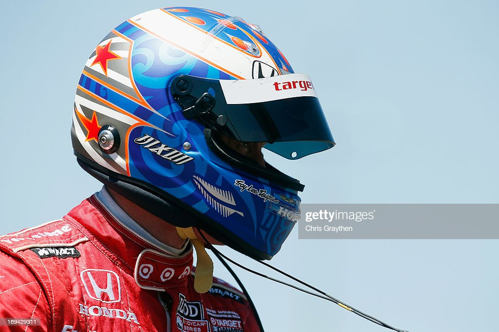 <a gi-track='captionPersonalityLinkClicked' href=/galleries/search?phrase=Scott+Dixon&family=editorial&specificpeople=183395 ng-click='$event.stopPropagation()'>Scott Dixon</a> of New Zealand, driver of the #9 Target Chip Ganassi Racing Honda Dallara during final practice on Carb Day for the 97th Indianapolis 500 mile race at Indianapolis Motor Speedway on May 24, 2013 in Indianapolis, Indiana.